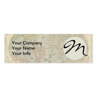 World Map Vintage Atlas Historical Continents Pack Of Skinny Business Cards