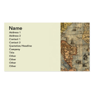 World Map Vintage Atlas Historical Continents Pack Of Standard Business Cards