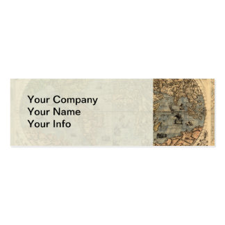 World Map Vintage Atlas Historical Pack Of Skinny Business Cards