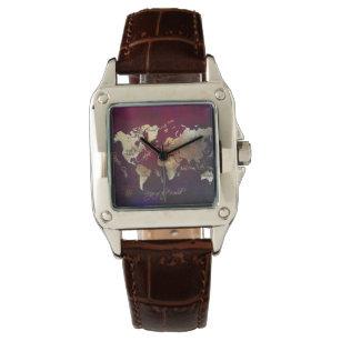 World map wrist watches zazzle uk world map watch gumiabroncs Gallery