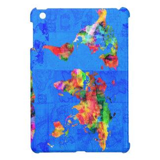 world map watercolor  1 case for the iPad mini