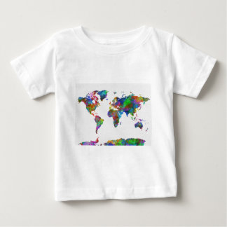world map watercolor baby T-Shirt