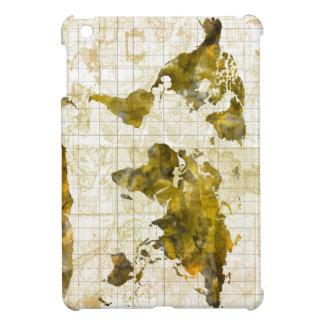 world map watercolor sepia iPad mini cases