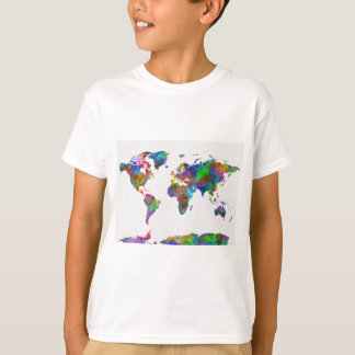 world map watercolor T-Shirt