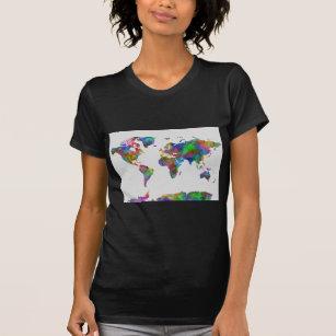 Watercolor world map t shirts shirt designs zazzle uk world map watercolor t shirt gumiabroncs Images