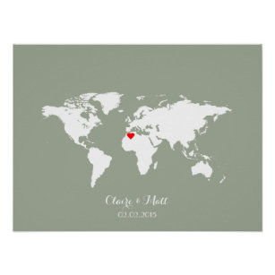 Guest book posters prints zazzle uk world map wedding guest book signing board gumiabroncs Choice Image