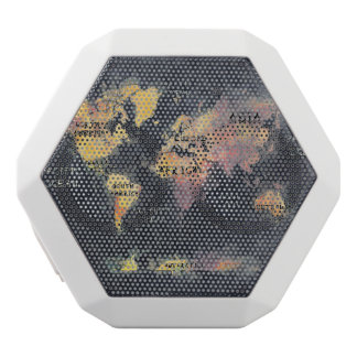 world map white bluetooth speaker