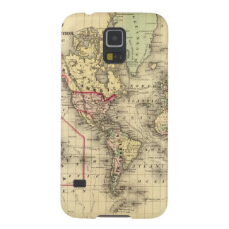 World Map with Explorers' sea routes Case For Galaxy S5