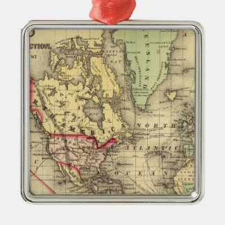 World Map with Explorers' sea routes Christmas Ornament