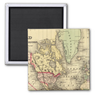 World Map with Explorers' sea routes Magnet