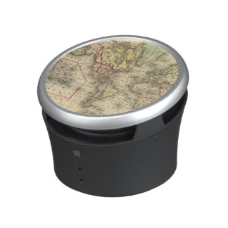 World Map with Explorers' sea routes Speaker