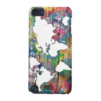 world map wood 12 iPod touch (5th generation) covers