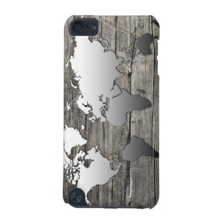 world map wood 13 iPod touch (5th generation) cover