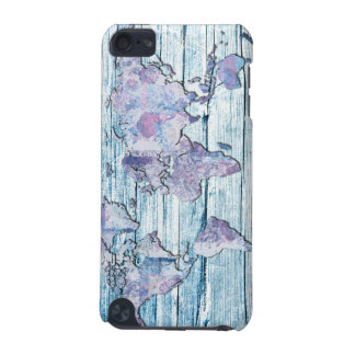 world map wood 14 iPod touch 5G covers