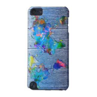 world map wood 2 iPod touch 5G covers