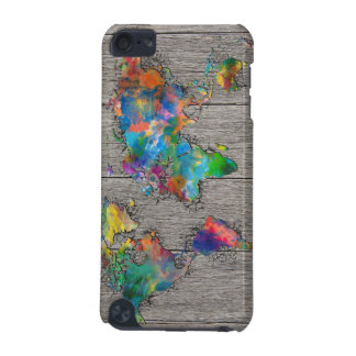 world map wood 3 iPod touch (5th generation) cases