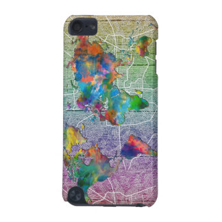 world map wood 4 iPod touch (5th generation) case