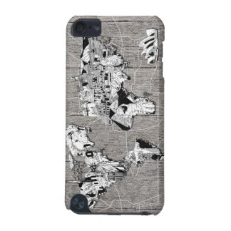 world map wood 5 iPod touch (5th generation) case