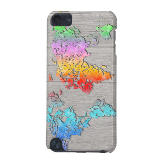 world map wood 7 iPod touch 5G case