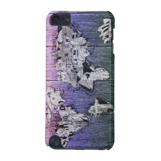 world map wood 7 iPod touch 5G cases