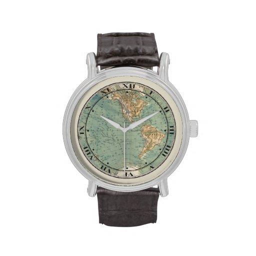 World Map Wrist Watch