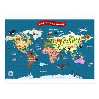 World Maps For Kids Postcard