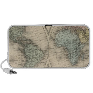 World maps iPod speakers
