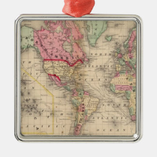 World Mercator proj Map by Mitchell Christmas Ornament