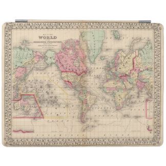 World Mercator proj Map by Mitchell iPad Cover