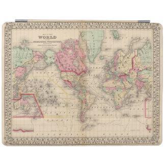 World Mercator proj Map by Mitchell iPad Cover