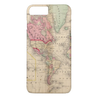 World Mercator proj Map by Mitchell iPhone 8 Plus/7 Plus Case