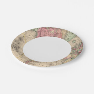World Mercator proj Map by Mitchell Paper Plate