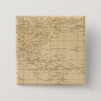 World Mercator's projection 15 Cm Square Badge
