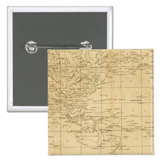World Mercator's projection 15 Cm Square Badge