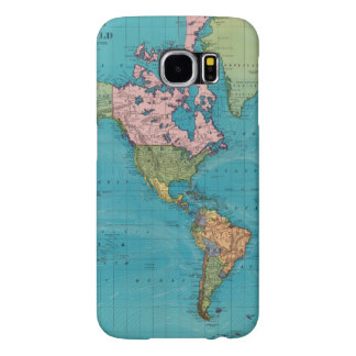 World, Mercator's Projection Samsung Galaxy S6 Cases