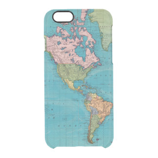 World, Mercator's Projection Clear iPhone 6/6S Case