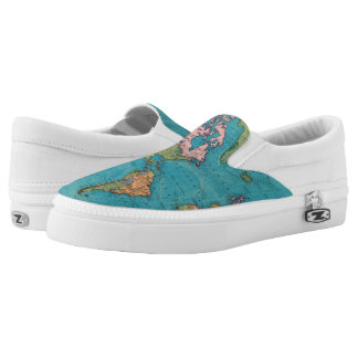 World, Mercator's Projection Slip-On Shoes