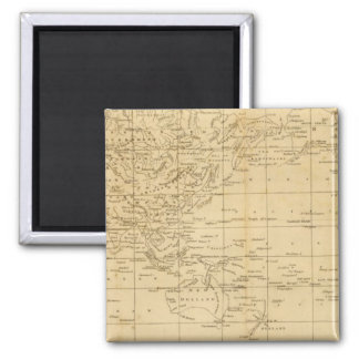 World Mercator's projection Square Magnet