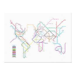 Metro map art posters framed artwork zazzle world metro map canvas print gumiabroncs Choice Image