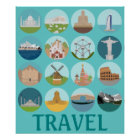 World Monuments Travel Poster