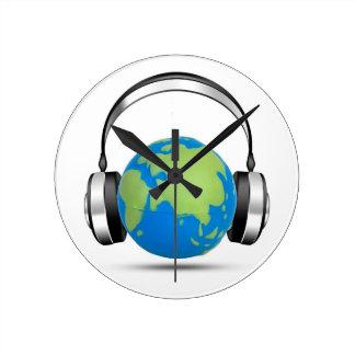 World Music Round Clock