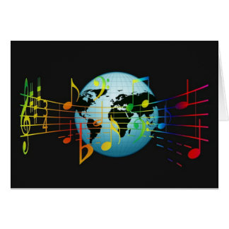 World Musical Notes Greeting Card