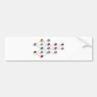 World network concept bumper sticker