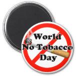 World No Tobacco Day 6 Cm Round Magnet