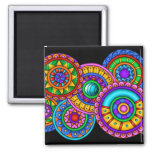 World Of Colour Square Magnet