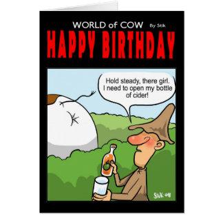 World of Cow Birthday Card