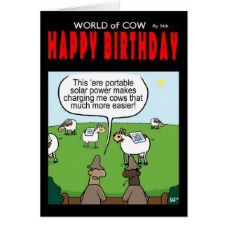 World of Cow Solar Power Card