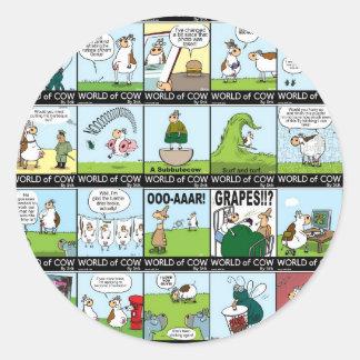 World of Cow Wallpaper Round Sticker