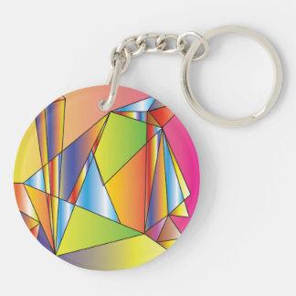 World of cubes acrylic keychain