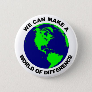 World of Difference 6 Cm Round Badge